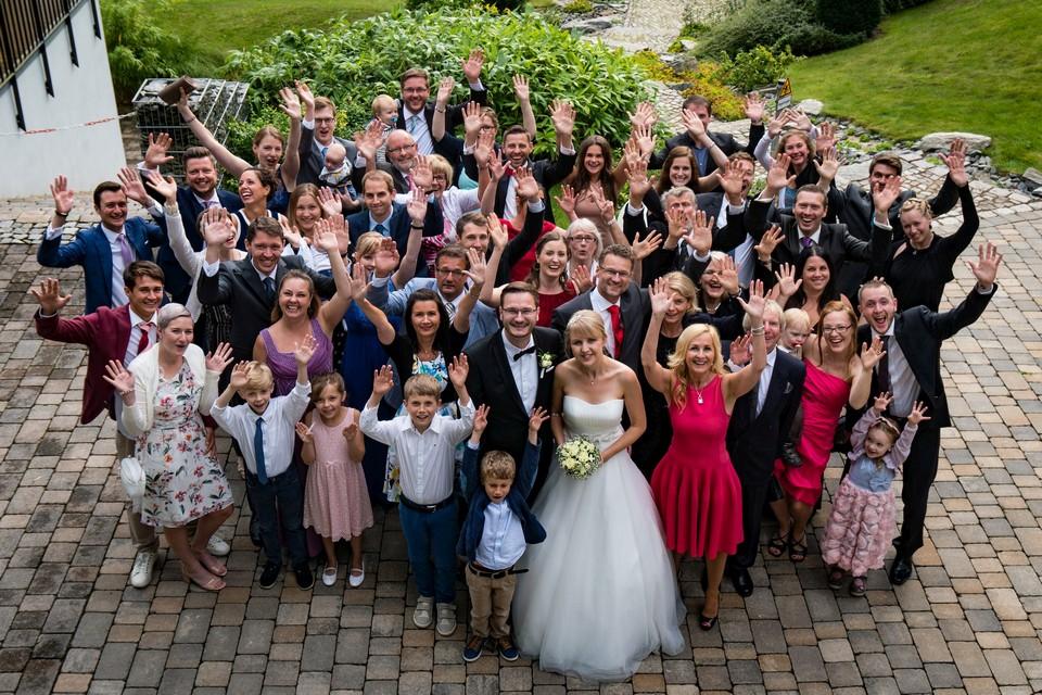 Hochzeitsfotografie Gruppenbild
