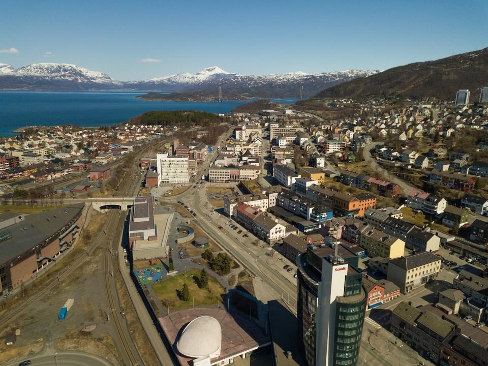 Luftbild Narvik Norwegen Drohnenbilder Drohnenfotograf